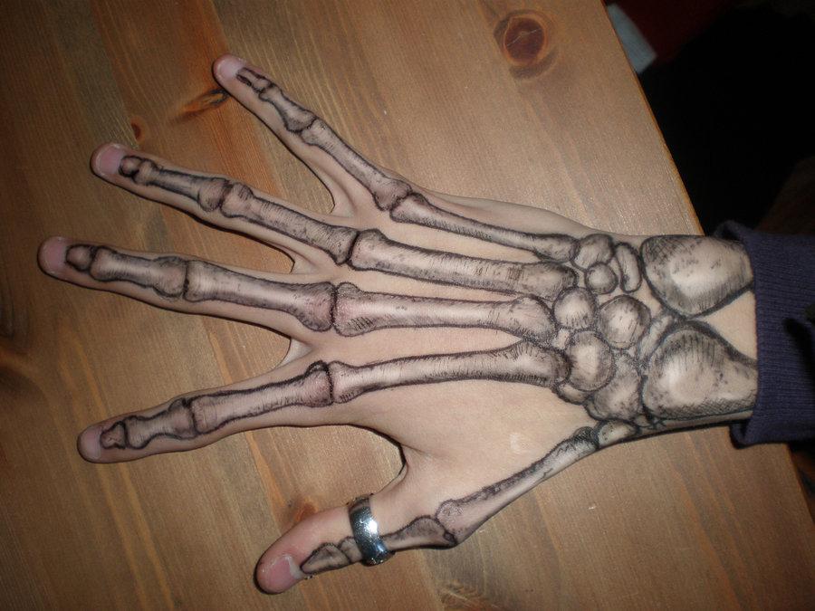 Скелет руки тату 81
