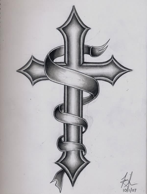 Эскизы тату кресты фото