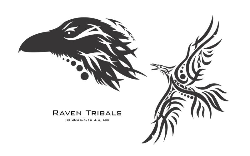 Norse raven design