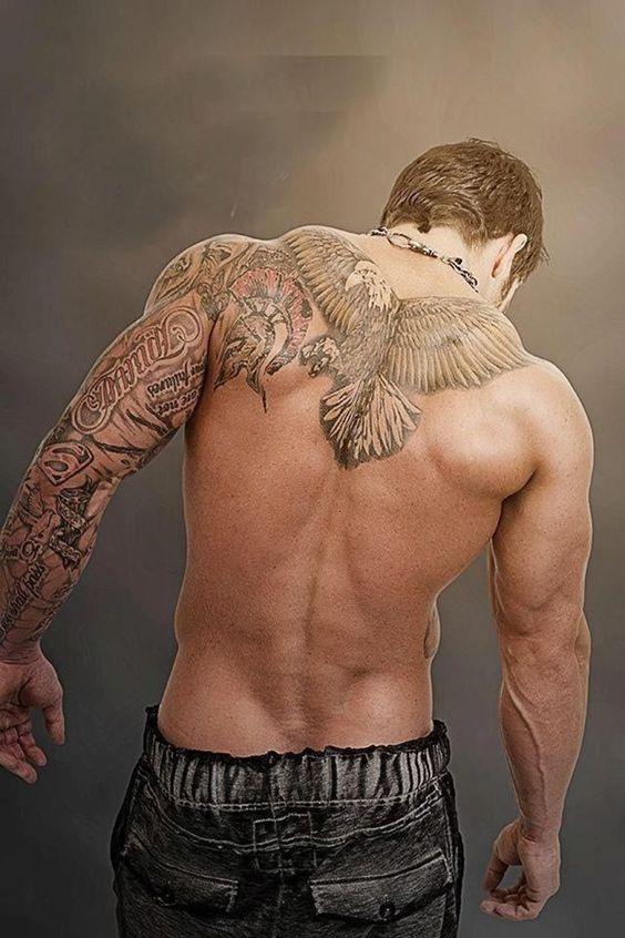 Мужские тату на спины