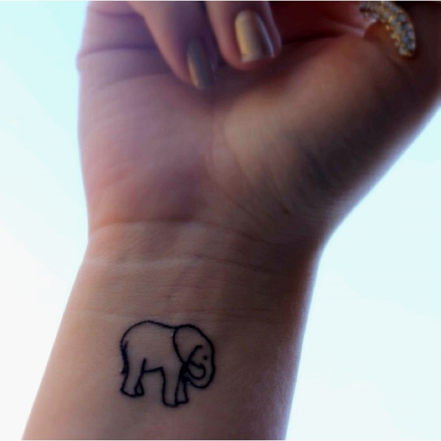 Elephants heart tattoos