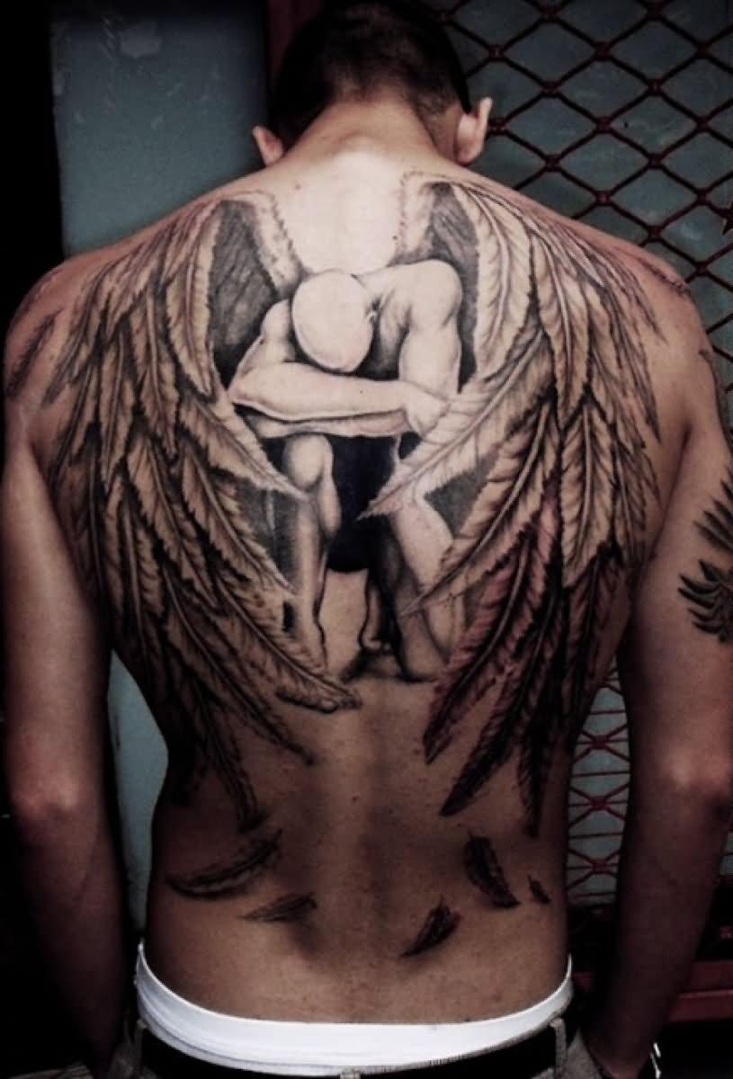 Красивые мужские тату на спине