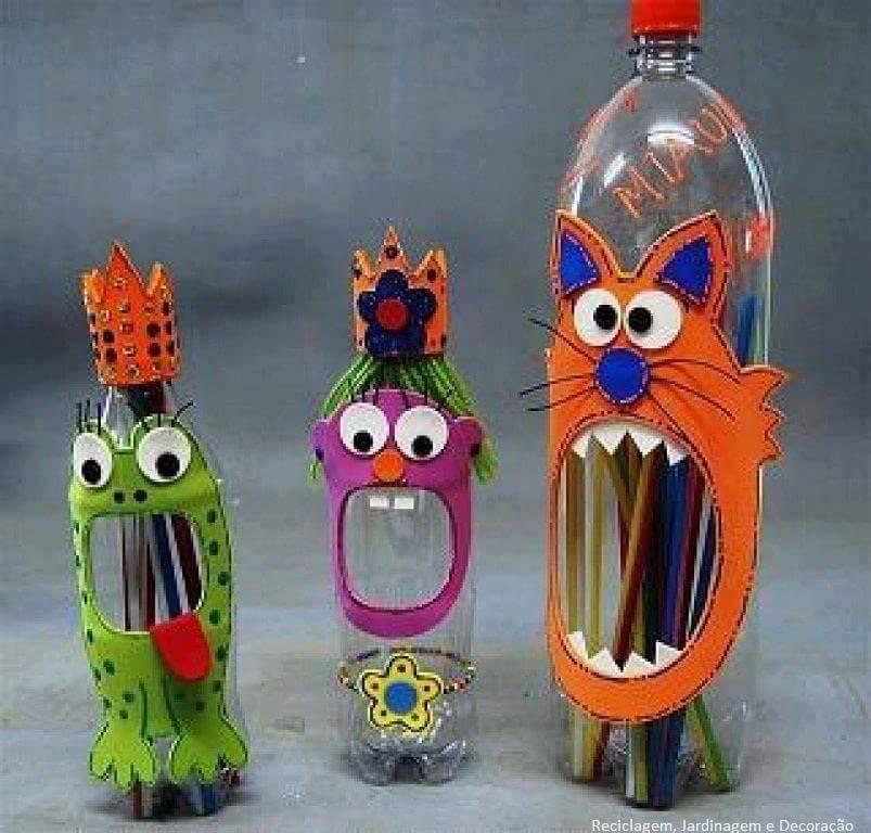 Поделки пластиковых бутылок в школу