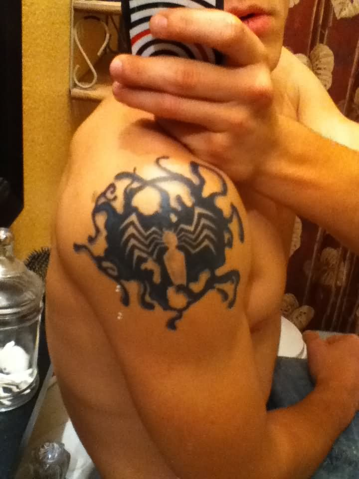 Amazing spider man logo tattoo