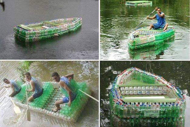 Делаем лодку своими руками из бутылок