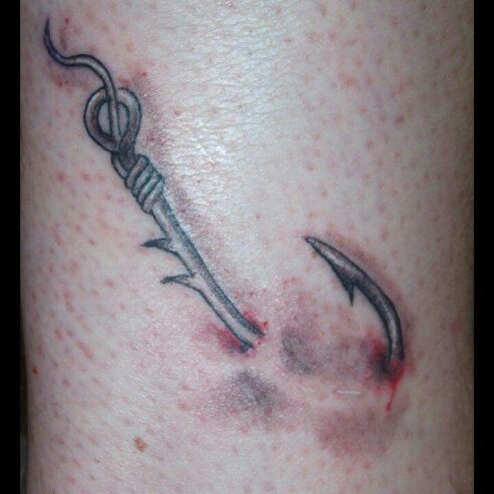 Fishing hook tattoos