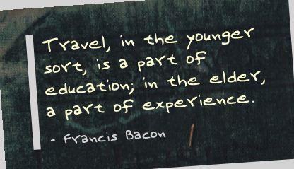 francis bacon of travel essay