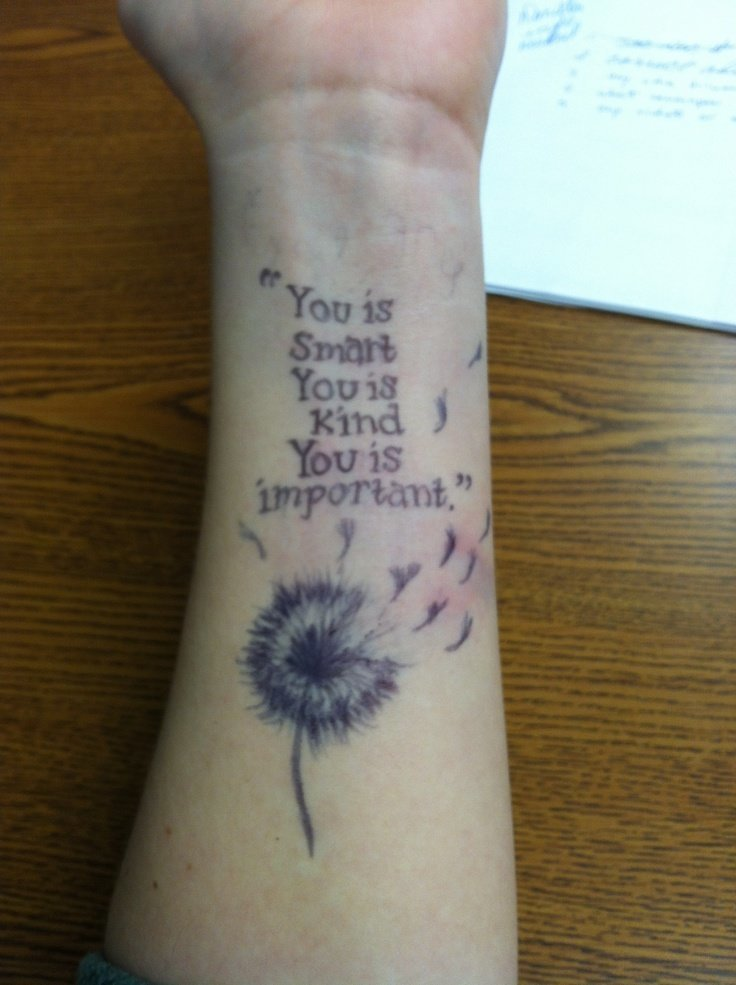 Dandelion tattoo on wrist
