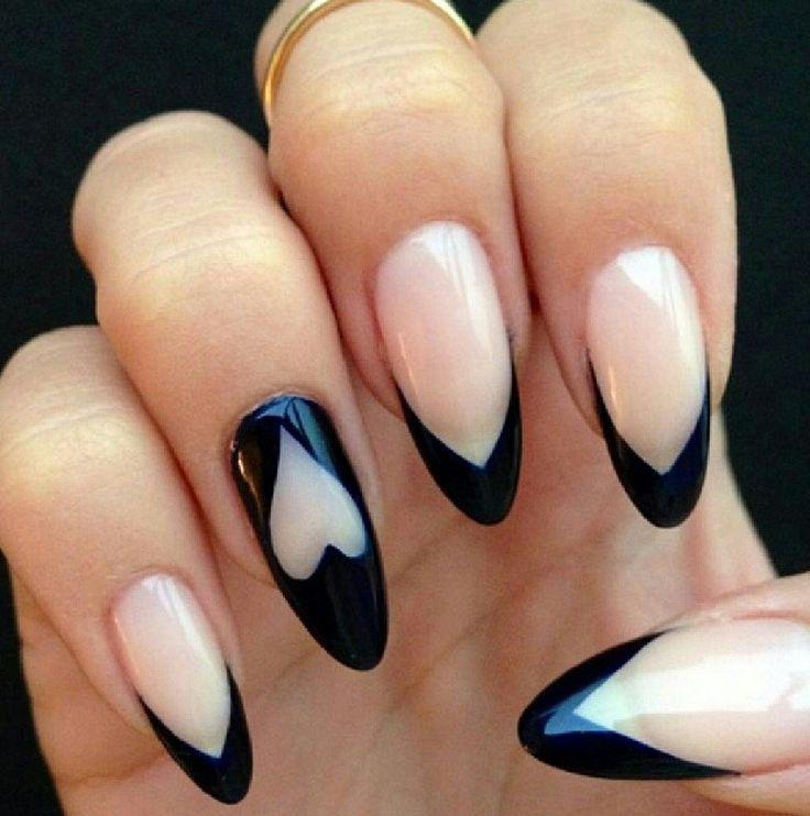 Длинные ногти овальные дизайн