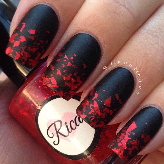 Ногти красные черные