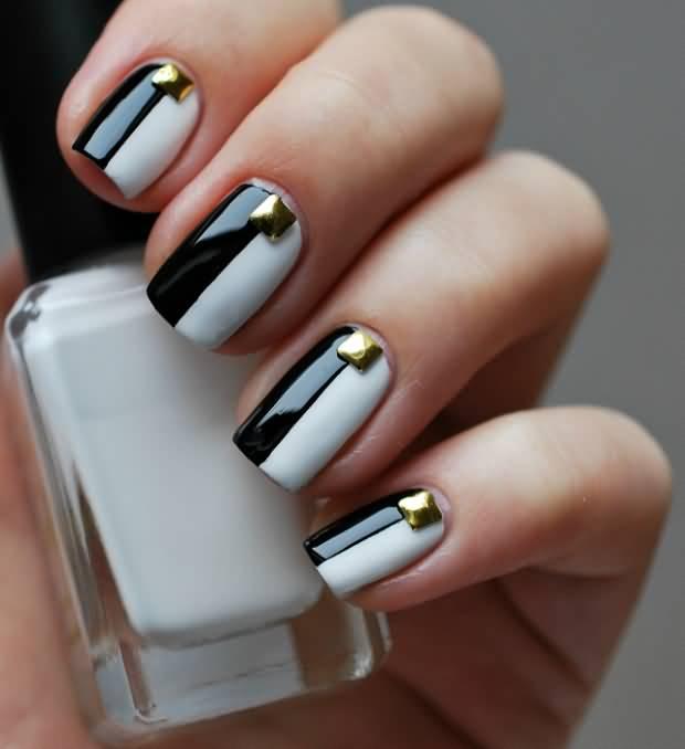 Ногти черно белое