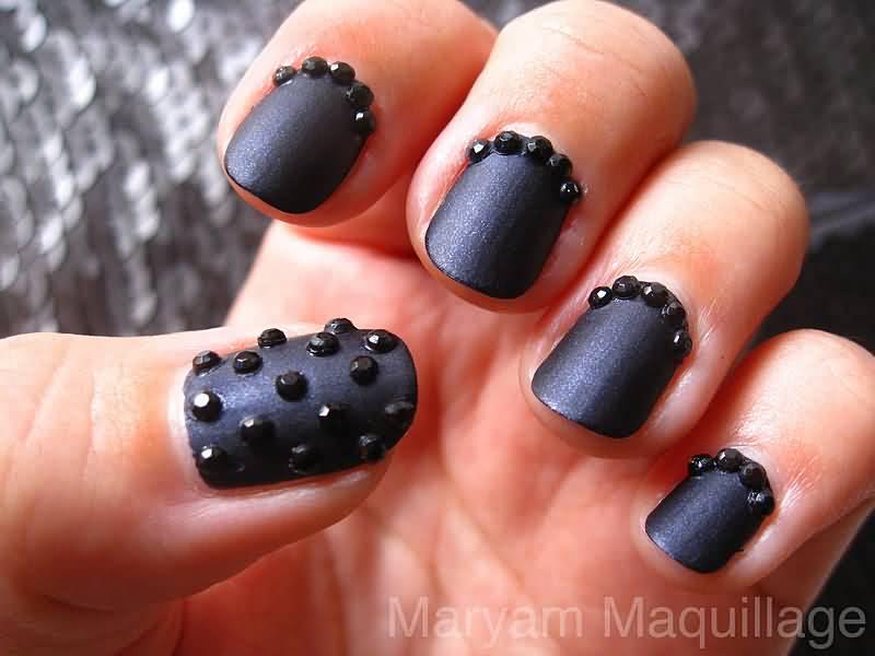 Ногти черный цвет