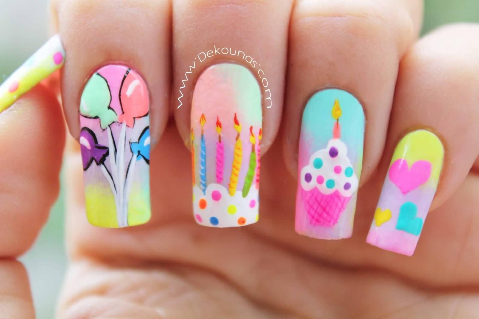 Дизайн ногтей на день рождения