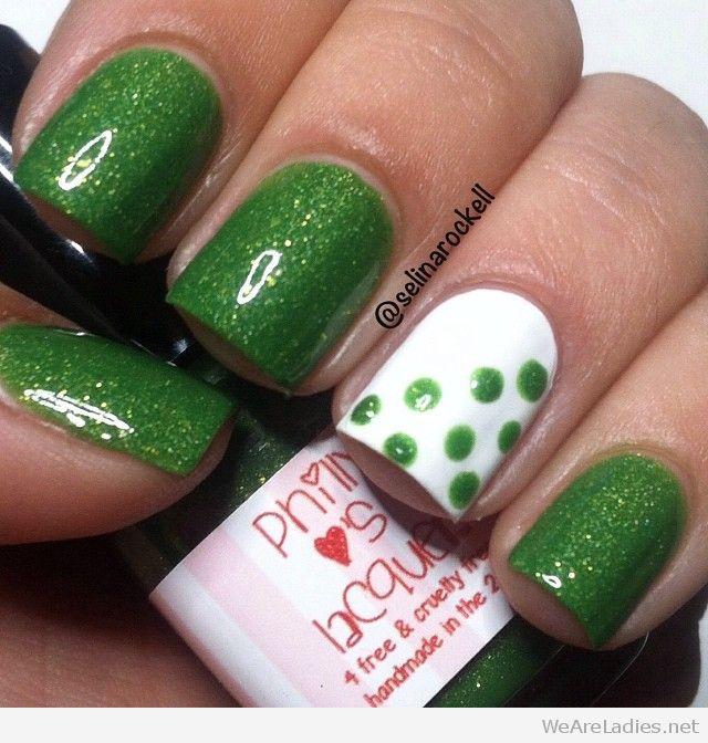 28 images of green nail art