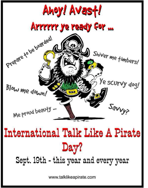 Images: Talk Like a Pirate Day