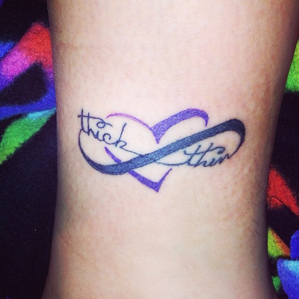 Thick And Thin Heart Infinity Tattoo