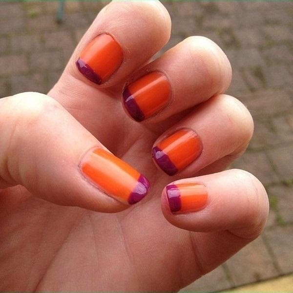 25 beautiful orange nail art