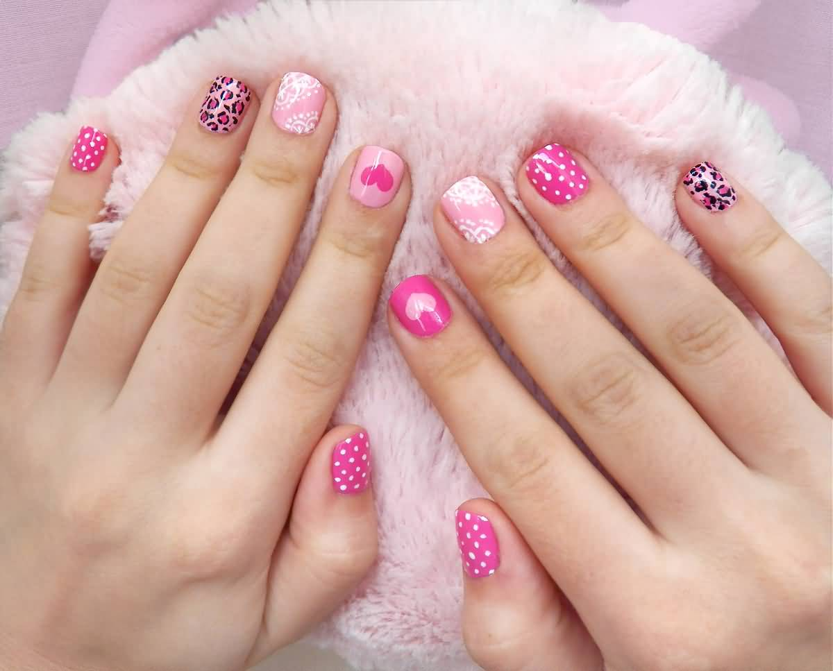 Дизайн ногтей розовые короткие