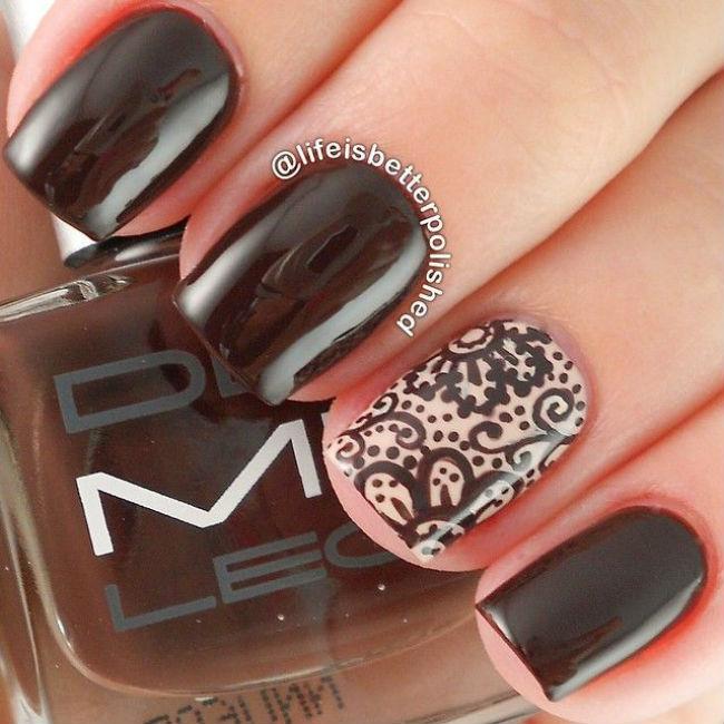 Дизайн ногтей темные оттенки