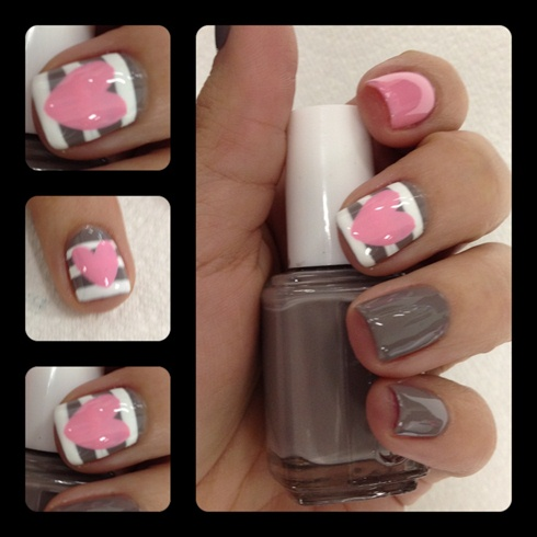 50+ Most Stylish Gray And Pink Nail Art Design Ideas