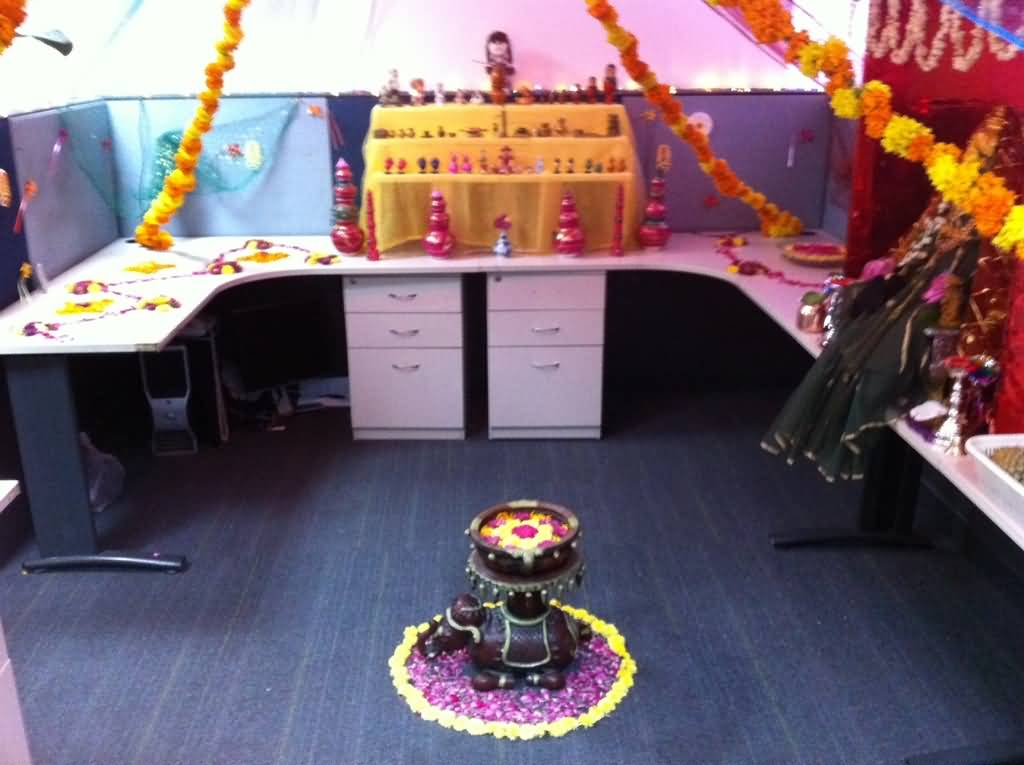 Office Desk Decoration Themes Ideas For 20 Beautiful Diwali And Home