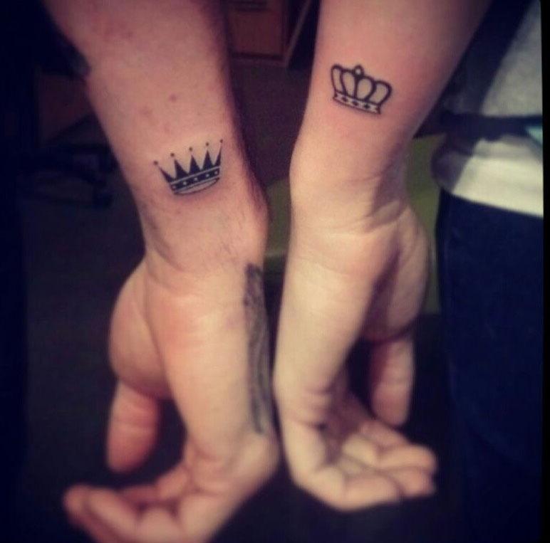 Татуировка на руке для влюбленных