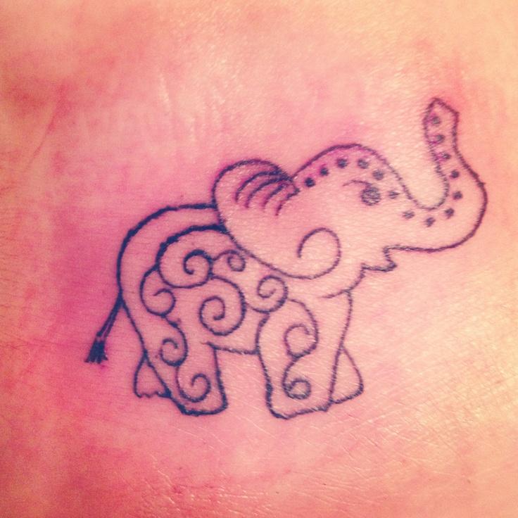 Elephant foot tattoos