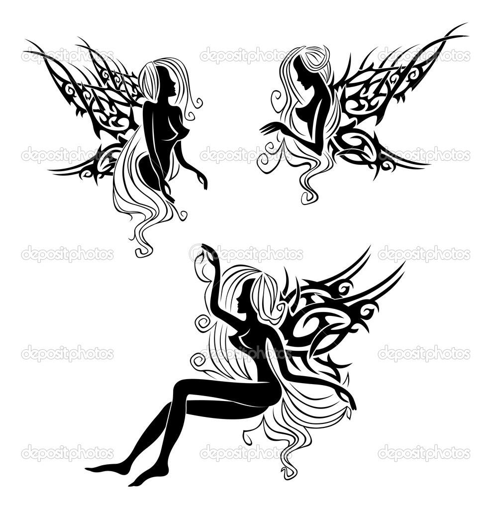 Эскизы тату эльфов для девушек