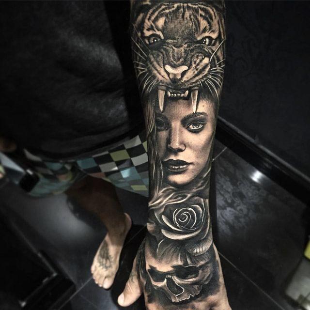 Cute love tattoo on finger side for girls