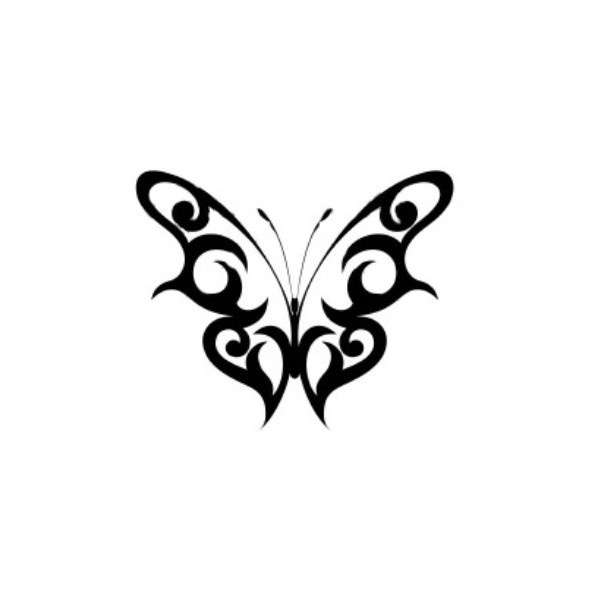 Simple Black Butterfly Tattoo Digitalspace Info
