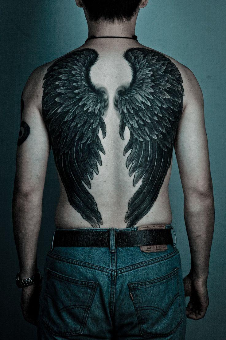 Тату крылья ангела на всю спину