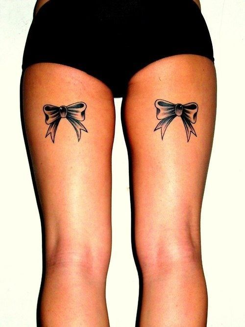 Back Thigh Bow Tattoos For S