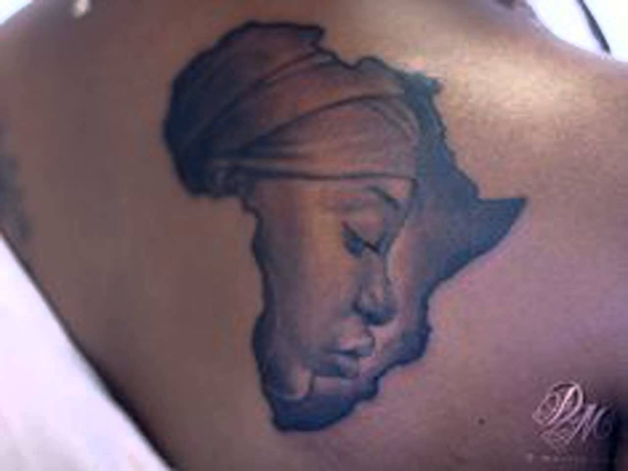 africa map tattoo