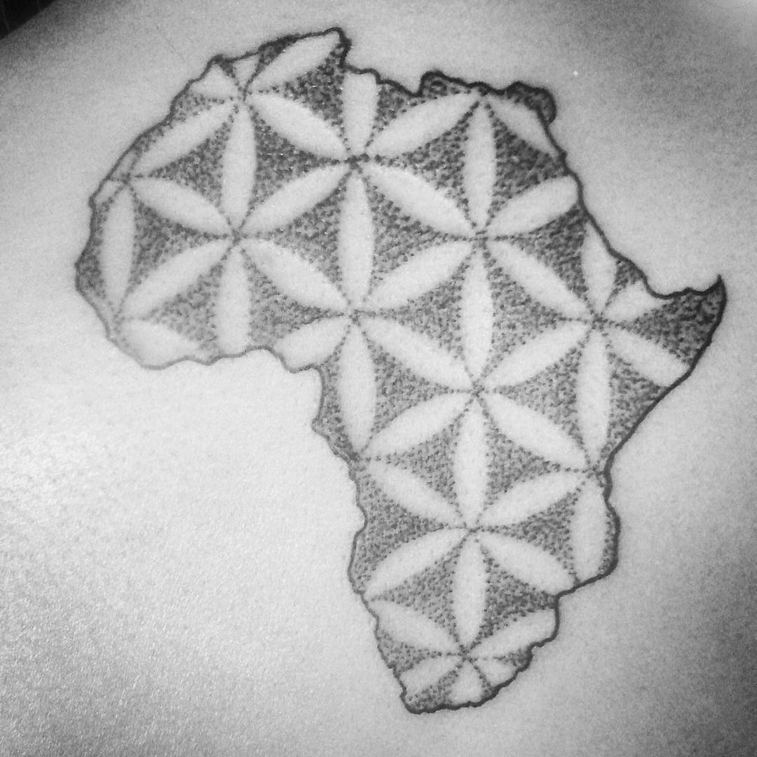 43+ Latest African Continent Map Tattoos