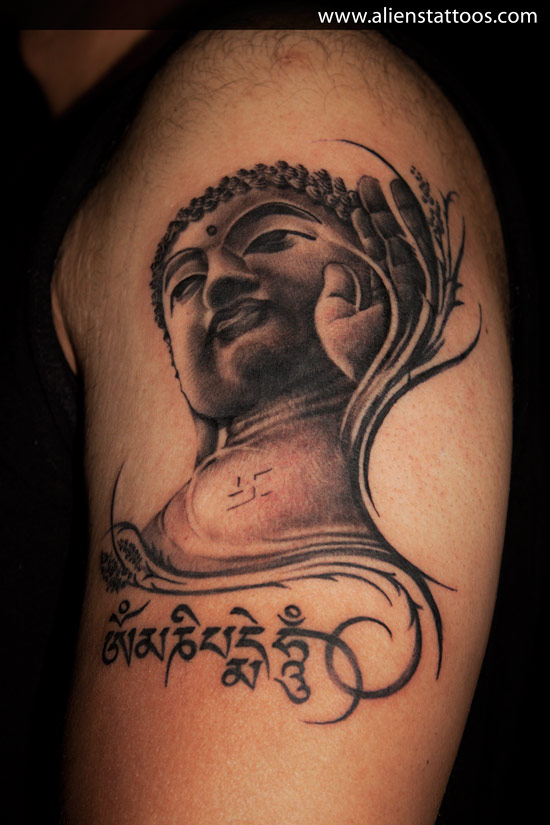 48 most amazing gautama buddha tattoos for arm. Black Bedroom Furniture Sets. Home Design Ideas