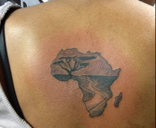 africa map tattoos