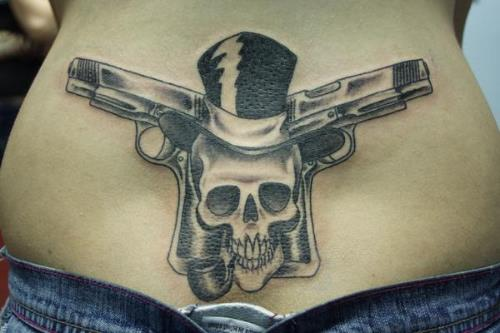 58 Most Amazing Pistol Tattoos & Designs