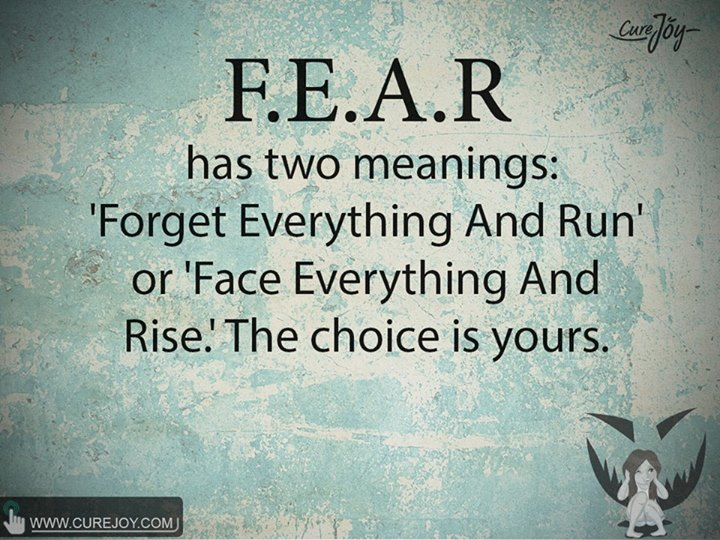 Forget Everything And Run 'Forget Everything And Run' or 'Face Everything And Rise'. The choice is yours.
