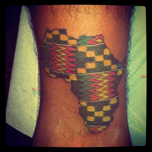 African Tattoos Designs: 43+ Latest African Continent Map Tattoos
