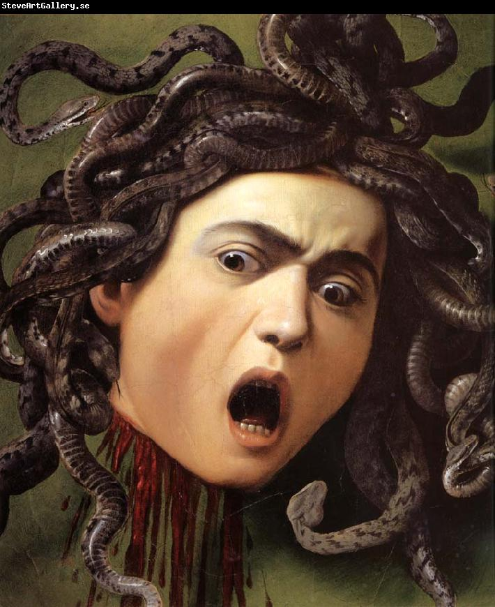 Medusa by Caravaggio created in 1597