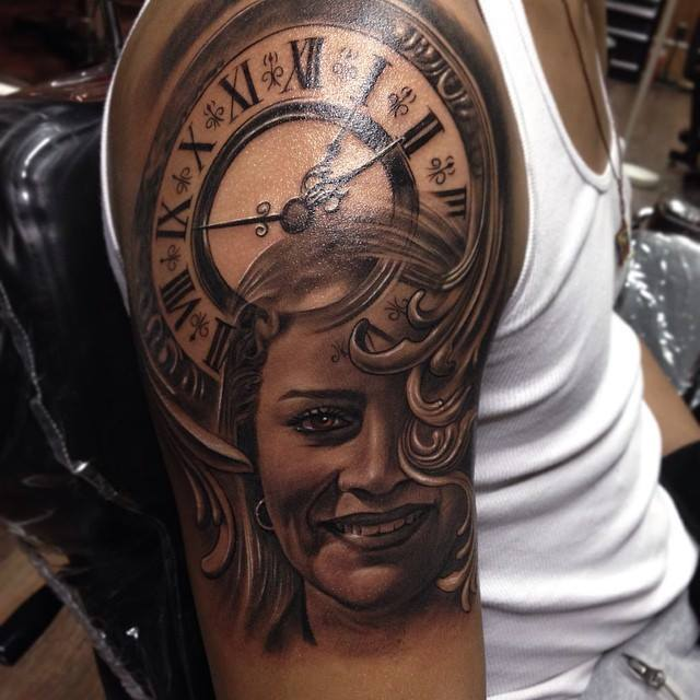 Mom's Portrait Tattoo by Rember orellana