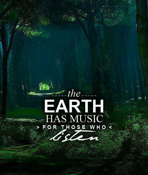 The earth has music for those who listen.