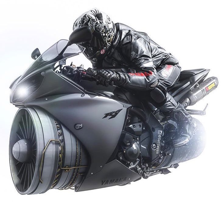 Yamaha Bike Concept Digital Art