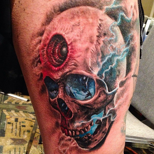 Amazing Skull tattoo by Rember orellana