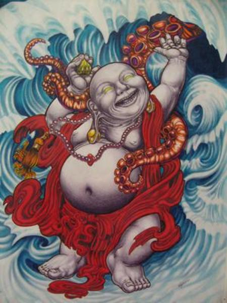 laughing buddha drawing - photo #28