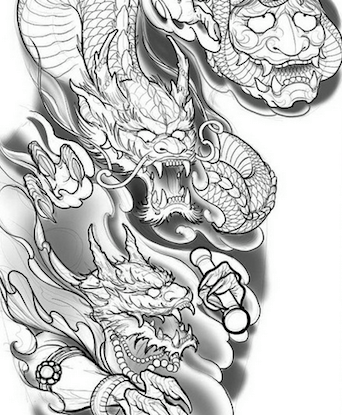 Dragon Tattoo Design For Full Sleeve By Dean Caryle