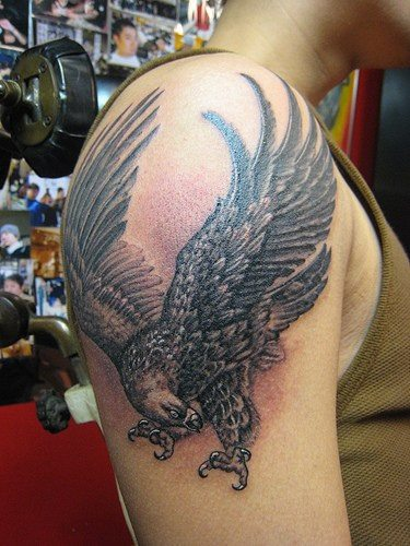 Eagle flag tattoo shoulder - photo#54