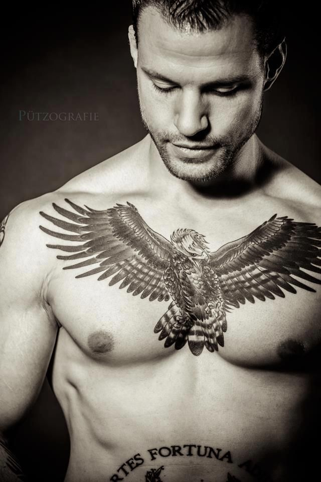 Eagle Chest Tattoo Design For Men
