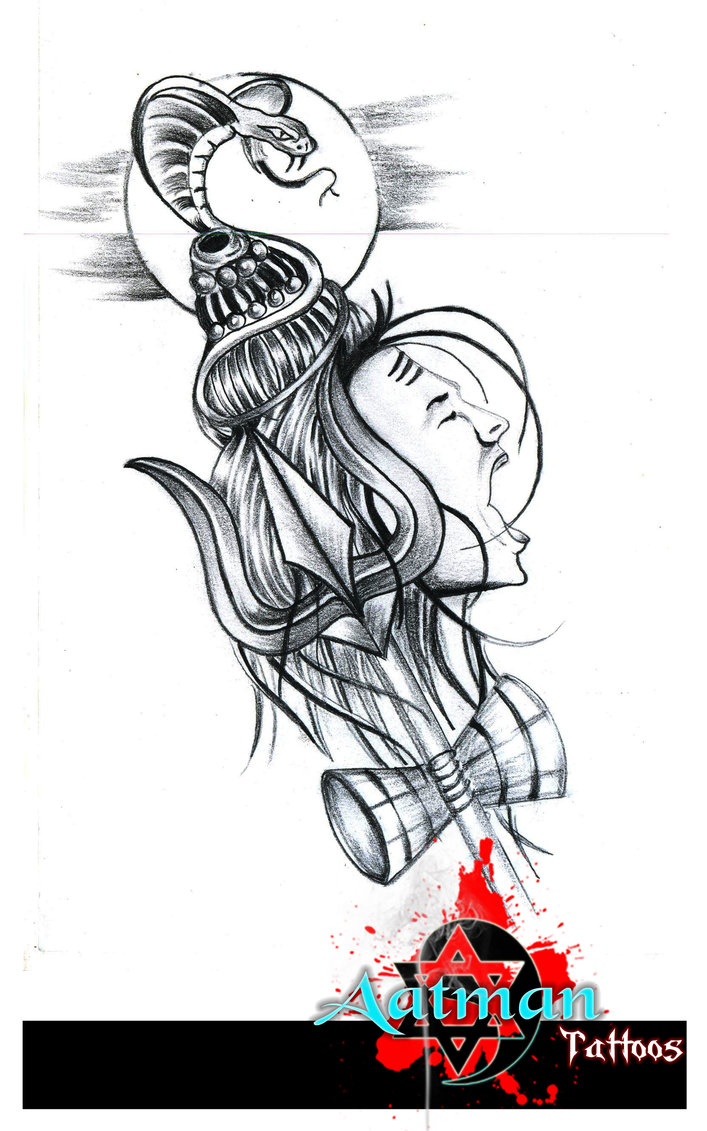 Lord shiva tattoo design by bhavith narayan