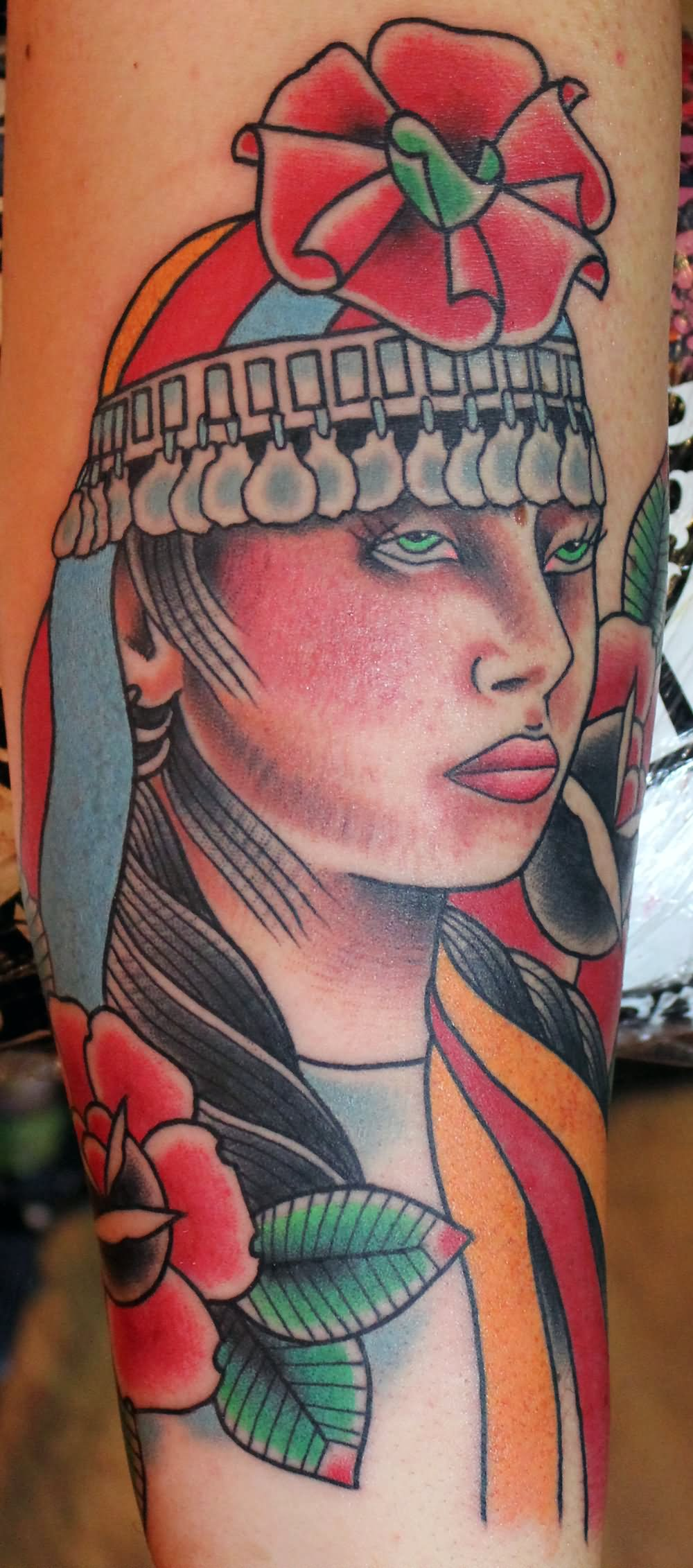 Mapuche indian girl tattoo for Indian woman tattoo
